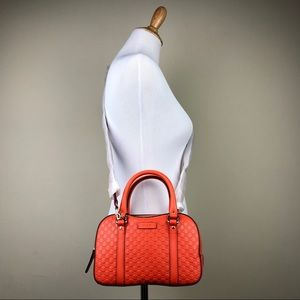 Gucci Orange Micro Guccissima Margaux Bag Purse